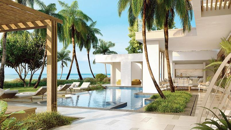 Les villas les plus chères ont une vraie plage et sont en pleine propriété face à la mer.