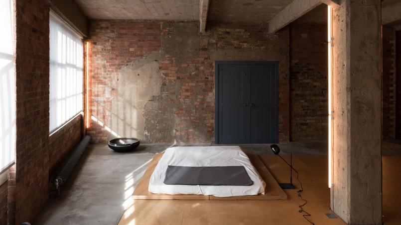 Chambre de maître d'un appartement de luxe à Londres...