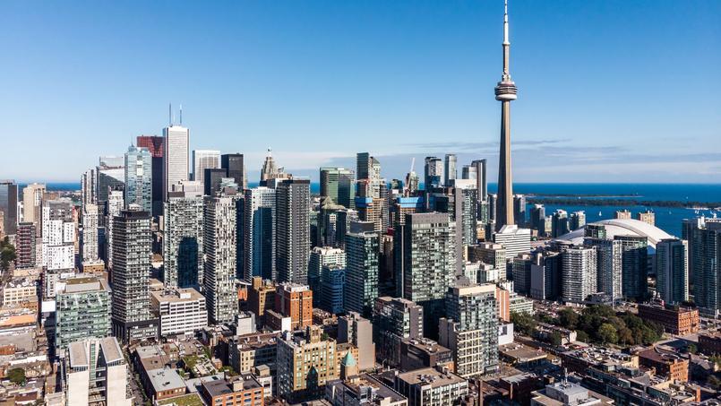 Vue aérienne sur le centre-ville de Toronto