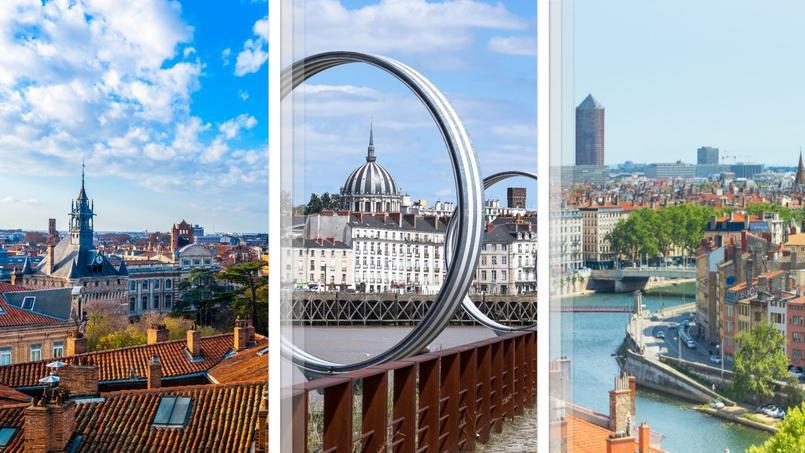 Notre trio de tête  <i>(de gauche à droite)</i>: Toulouse, Nantes et Lyon.
