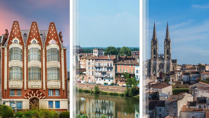 Notre trio de tête pour le critère immobilier  <i>(de gauche à droite)</i>: Saint-Quentin, Montauban et Niort mêlent une offre large et des prix abordables.