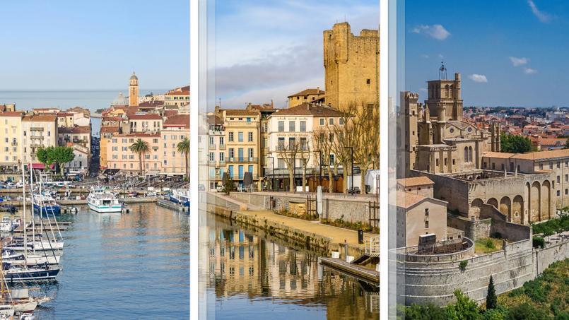 Notre trio de tête pour le cadre de vie <i>(de gauche à droite)</i>: Ajaccio, Narbonne et Béziers.