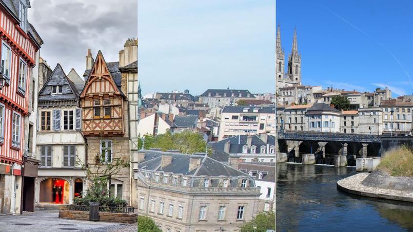 De gauche à droite: Quimper, Limoges et Niort