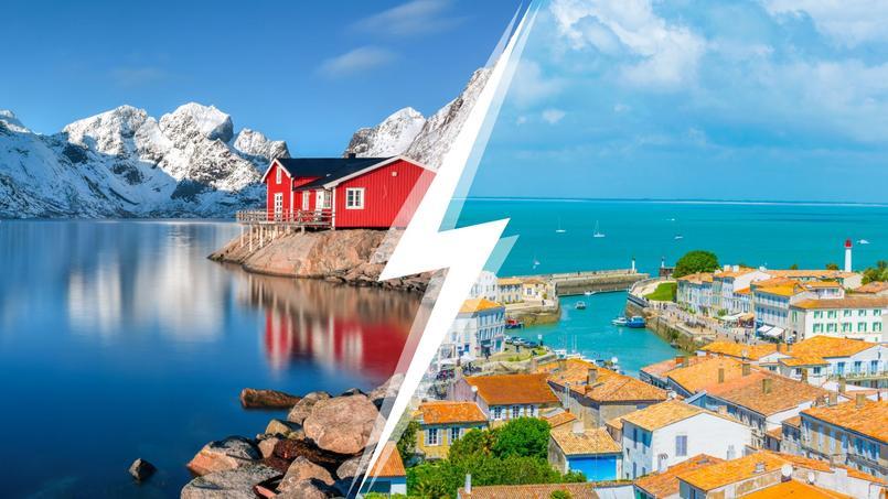 La Norvège (à gauche) a tranché, l'île de Ré tente de s'adapter.