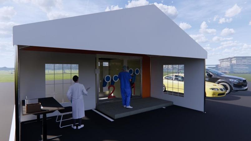 Un concept élaboré par un architecte spécialiste des infrastructures de santé et époux d'une infirmière.