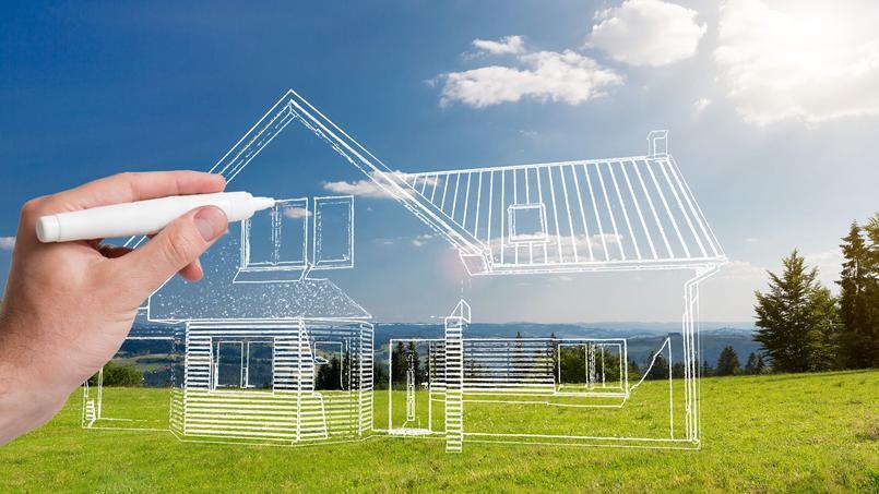 Photo d'illustration de plans d'une maison.