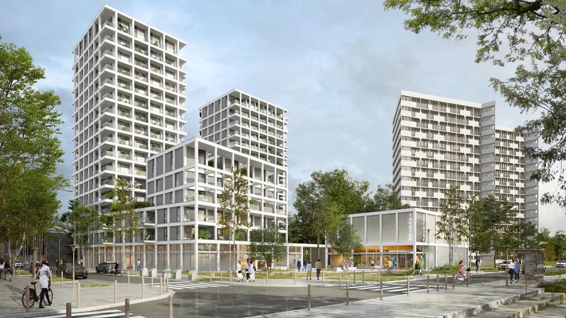 L'ensemble Loire en scène, avec en premier plan, le plus petit immeuble qui sera proposé avec la formule du Bail réel solidaire.