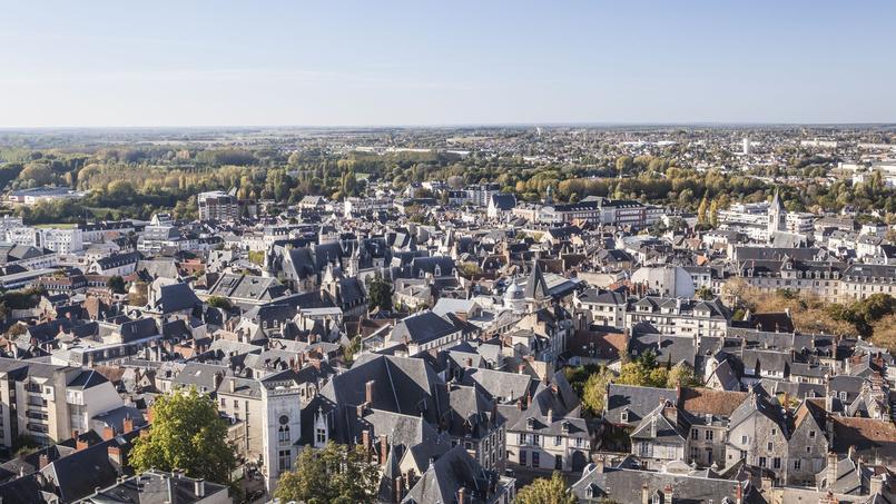 Vue des toits de Bourges.