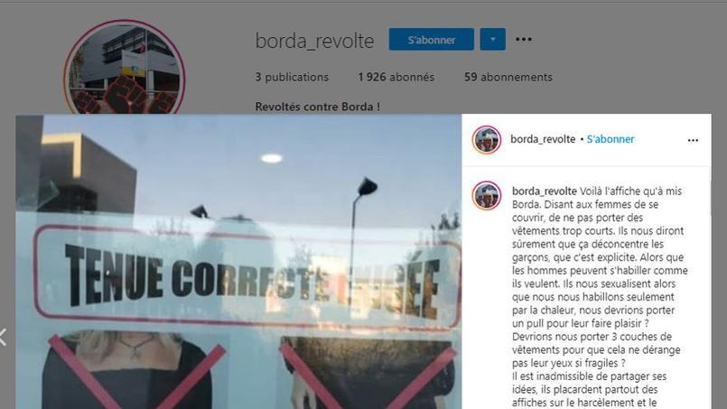 Compte Instagram @borda_revolte