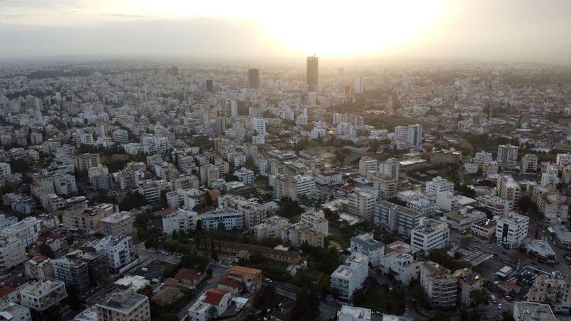 Vue aérienne de la capitale chypriote, Nicosie.