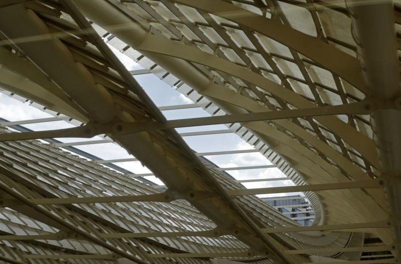 View of La Canopee (the Canopy) at Les Halles in Paris