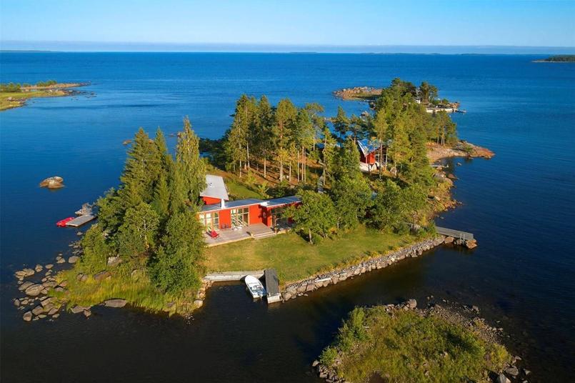 Jouez les Robinson de luxe sur cette île privée suédoise