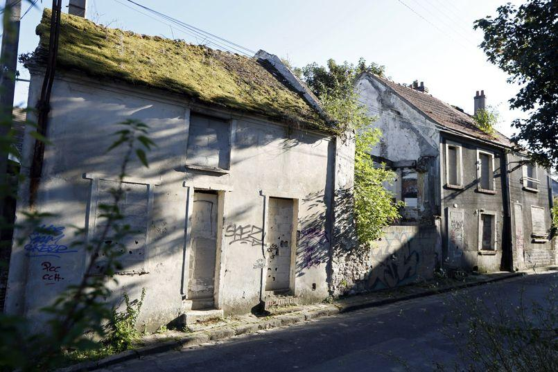 General view of abandoned houses in Goussainville-Vieux Pays, northern Paris