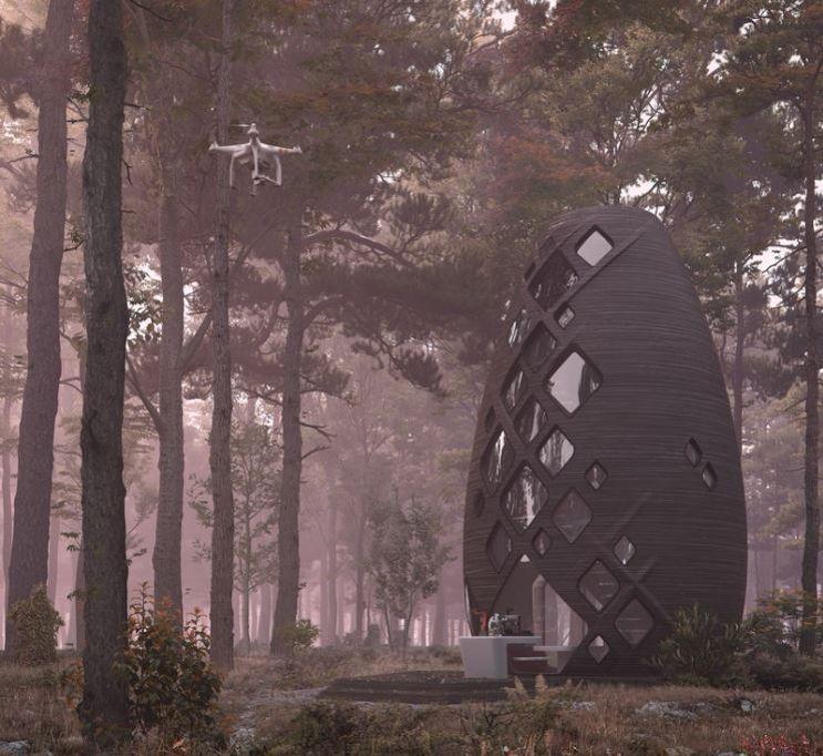 Conçue pour aller sur Mars, cette maison imprimée en 3D, est à louer