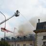 L'ancien hôpital a été brûlé trois fois, ici l'incendie de 2009.