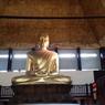 A l'intérieur de la pagode, le grand Bouddha, haut de 10 mètres , serait le plus imposant d'Europe. Oeuvre du sculpteur yougoslave François Mozès, la statue en fibre de verre recouverte de feuille d'or a été réalisée dans les ateliers du peintre Miro.