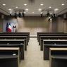 L'une des salles de réunions, prévue notamment pour les conférences de presse.