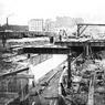 Le chantier du côté de la gare de Lyon.
