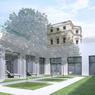 Le nouveau bâtiment se serait articulé autour de deux cours intérieures.