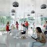 La cafétéria, incontournable lieu de rencontre des étudiants.