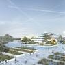 Le futur hôtel du parc aquatique.