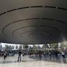 Dans les nouveaux locaux d'Apple, le verre et la transparence sont rois.