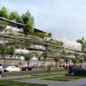 Bâtiment de logements avec ferme urbaine et jardins partagés par Tetrarc