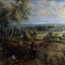 Paysage d'automne avec une vue de Het Steen au petit matin, Rubens, vers 1636.