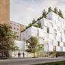 Boulevard Bessières & rue du Docteur-Paul-Brousse (XVIIe) : en 2020, l'immeuble NOC42, mitoyen de l'école 42 fondée par Xavier Niel, proposera aux développeurs informatiques 1000 «hébergements à bas coût», composés de lits-boîtes superposés.