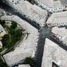 Vue aérienne du vieux bazar de Gjirokastra.