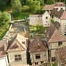 Vue des toits des maisons typiques