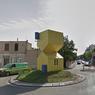 """Les Deux-Maisons de Villeurbanne (Rhône),  <a href=""""https://www.lyonmag.com/article/79482/les-deux-maisons-de-villeurbanne-designe-rond-point-le-plus-moche-de-france"""" target=""""_blank"""">désigné en 2016 comme le rond-point le plus moche de France par les Français</a>, après un vote organisé par RMC."""