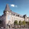 Perspectives de rénovation urbaine de l'Hôtel des Postes de Strasbourg, situé Avenue de la Marseillaise.