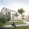 <b>Cœur de ville, Saint-Jean devient</b> <b> «À la place du cœur» </b>- : en plein cœur de ville, le site comporte deux parcelles face à face séparées par la route d'Albi : une maison à démolir et son jardin et une place publique, bordée de pins parasols, utilisée comme parking. L'objectif est de relier les deux espaces.