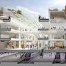 Le projet prévoit l'ajout d'une aile entière afin d'y créer un terminal de départs de 5 étages séparés des arrivés