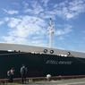Le Stellamaris, navire sablier de la compagnie DTM, mesure 103 mètres de long et peut accueillir 2800 mètres cubes de chargement de granulats marins.