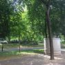 Le jardin public au pied des tours.