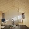 L'extension réalisée en bois satisfait la demande des propriétaires d'une construction légère, rapide et écologique.