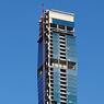 Au 82e étage, cette ouverture sur deux niveaux qui sera conservée, doit atténuer les effets du vent sur la tour et l'impression de tanguer.