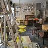 Un espace lounge/coworking dans le prolongement de l'espace restauration.