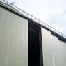 Le hangar qui accueillait les avions gros-porteurs mesure également 23 mètres de haut.