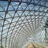 Les écailles de verre photovoltaïques du dernier étage.