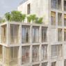 Vue d'artiste du prolongement de l'un des bâtiments qui permet de gagner des mètres carrés et une terrasse accessible, contrairement à celle du dernier étage.