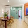 Après. Chaque logement dispose de sa cuisine, son salon et de deux à trois chambres.