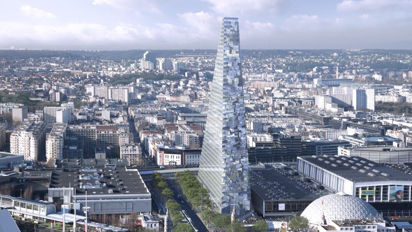 Avec une crèche et un centre culturels agrandis, une pépinière d'entreprises et un hôtel, le projet revisité compte séduire le Conseil de Paris. Crédit: AP
