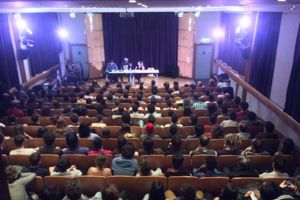 Salle comble pour Lino. Photo postée sur le groupe Facebook du séminaire RAP.