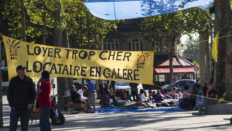 Manifestation contre les expulsions. Crédit: Flickr @Tom.