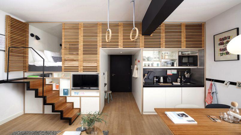 Ce type de chambre de 25 m² pourra être installé dans des résidences hôtelières aussi bien pour des créations que pour des reconversion de bâtiments existants. Crédit: Ewout Huibers