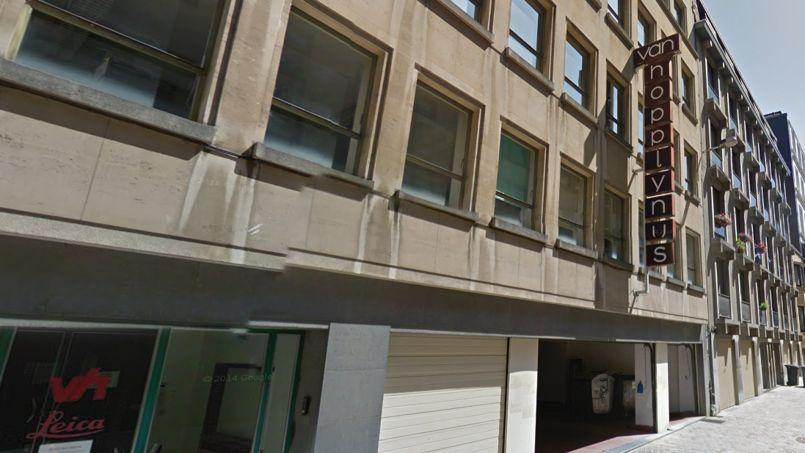 L'immeuble qui accueille le Study Space Central, au 12 rue du Gouvernement Provisoire à Bruxelles, est l'ancien siège belge de la société Leica. Capture d'écran Google Maps.