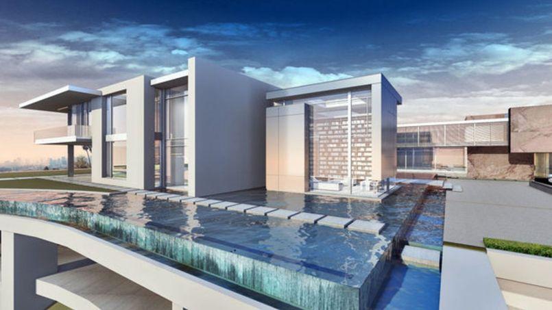 los angeles cette villa de la d mesure fera m tres carr s. Black Bedroom Furniture Sets. Home Design Ideas